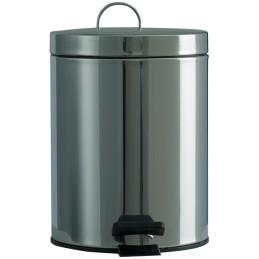 Petite poubelle ronde à pédale inox 5 litres