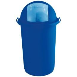 Poubelle à trappe 50 litres bleu