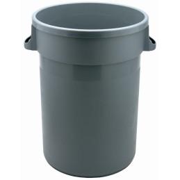 Portoir rond plastique gris 80 litres