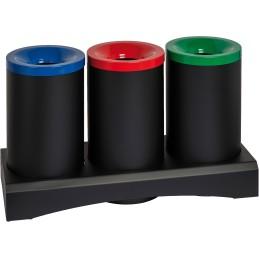 Îlot écologique tri-sélectif 3 x 50 litres anti-feu