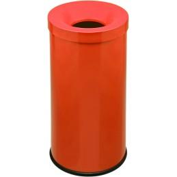 Corbeille anti-feu couleur 50 litres orange