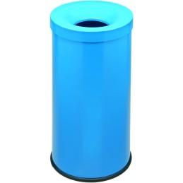 Corbeille anti-feu couleur 50 litres bleu azur