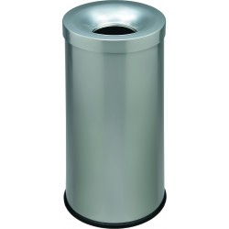 Corbeille anti-feu couleur 50 litres argent
