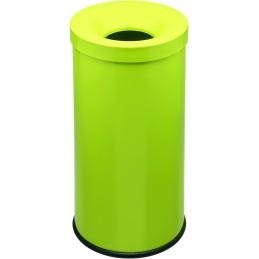 Corbeille anti-feu couleur 50 litres vert pomme