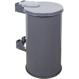 Support sacs-poubelle à entourage et couvercle