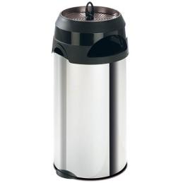 Poubelle avec cendrier sable inox 60 litres