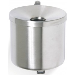 Cendrier mural inox rond 0,5 litres