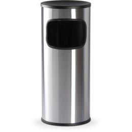Corbeille inox satiné avec cendrier 15 litres