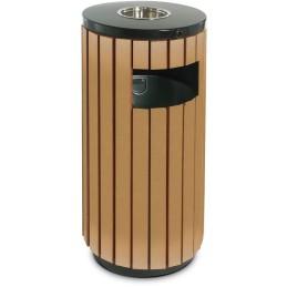 Corbeille imitation bois ouverture frontale 50 litres