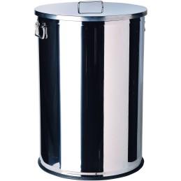 Conteneur en inox à couvercle 70 litres