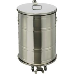 Conteneur mobile à pédale étanche 70 litres inox