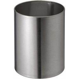 Corbeille à papier inox classique 11 litres