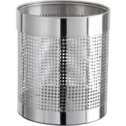 Corbeille à papier inox perforée 11 litres