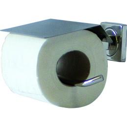 Distributeur de papier hygiénique pour 1 petit rouleau inox