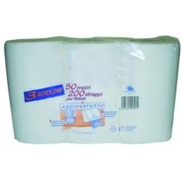 Rouleau de 50 mètres de papier essuie mains
