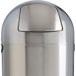 Poubelle dôme inox 52 litres