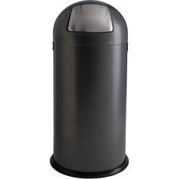 Poubelle dôme acier 52 litres