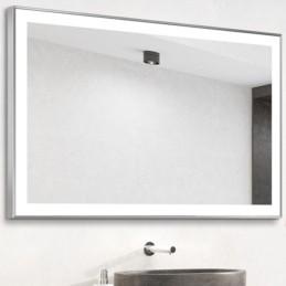 Miroir LED tour à cadre alu