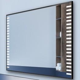 Miroir LED cadre alu Felisa