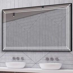 Miroir LED cadre alu Laris