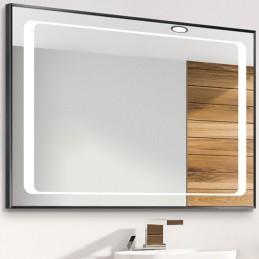 Miroir LED cadre alu Linga...