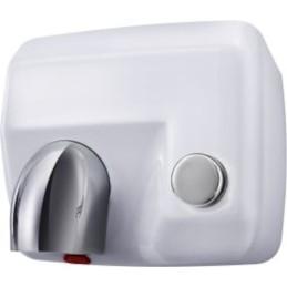 Sèche-mains mural à bouton poussoir robuste en acier