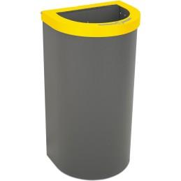 Corbeille Nice 95 litres couvercle ouvert et support de sac