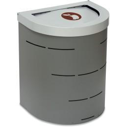 Corbeille Nice 65 litres couvercle basculant et support de sac