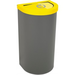 Corbeille Nice 95 litres couvercle basculant et support de sac