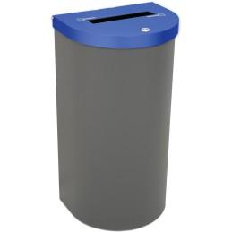Corbeille Nice 95 litres couvercle documents confidentiels et support de sac