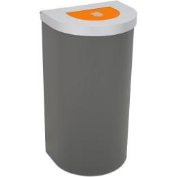 Corbeille Nice 95 litres couvercle auto-refermable et support de sac