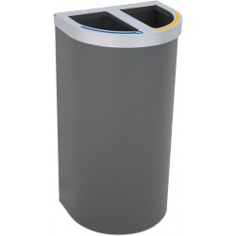Corbeille Nice multi-flux 95 litres 2 zones de recyclage