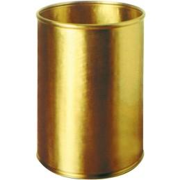 Corbeille luxe ronde laiton martelé 13 litres