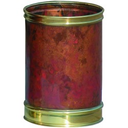 Corbeille luxe ronde cuivre vernis 13 litres