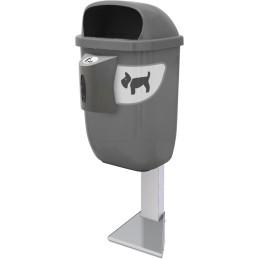 Poteau à fixer pour corbeille canine 50 litres
