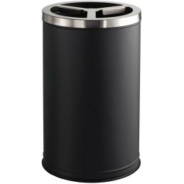 Poubelle tri-sélectif 3 bacs de 35 litres noir