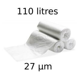 Sacs-poubelles 110 litres transparents par 10