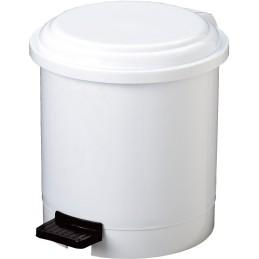 Poubelle ronde à pédale blanche 3 litres