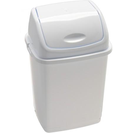 Poubelle basic à couvercle basculant blanche 10 litres