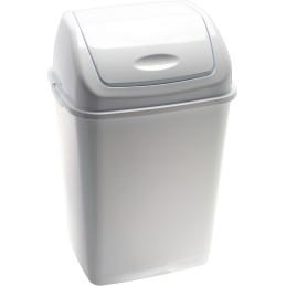 Poubelle basic à couvercle basculant blanche 35 litres