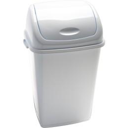 Poubelle basic à couvercle basculant blanche 50 litres
