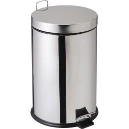 Petite poubelle à pédale inox 14 litres