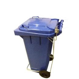 Pédale pour poubelle plastique à roulette 120 litres