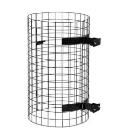 Corbeille de parc cubique à entourage lame de bois 100 litres