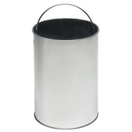 Petite poubelle ronde galva à pédale 5 litres