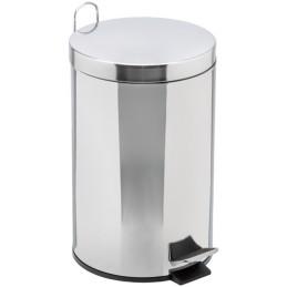 Poubelle ronde à pédale acier galva 12 litres