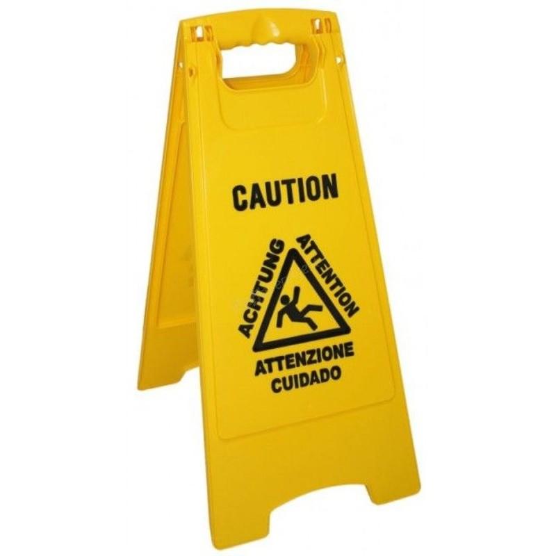 Panneau de signalisation sol glissant multilangue - Segnale pavimento bagnato ...