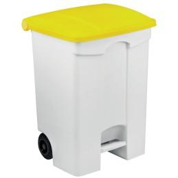 Conteneur mobile à pédale 70 litres avec couvercle de couleur