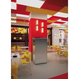 Collecteur fast food à porte battante inox 120 litres