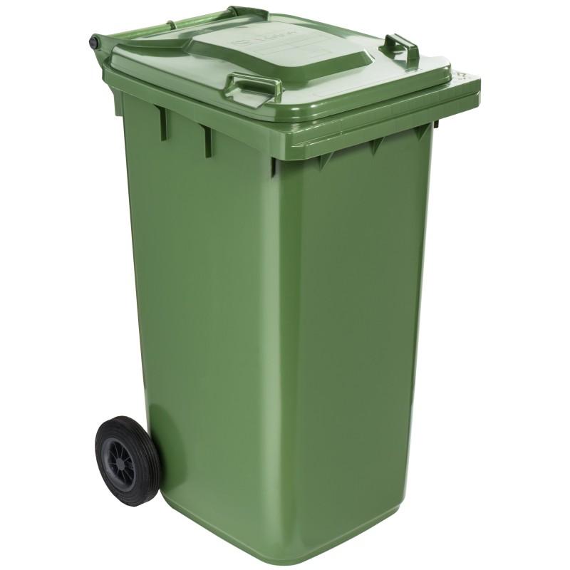 Poubelle plastique à roulette 240 litres vert
